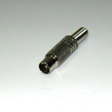 Штекер ТВ никель с пружиной